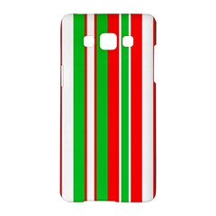 Christmas Holiday Stripes Red Samsung Galaxy A5 Hardshell Case  by Celenk