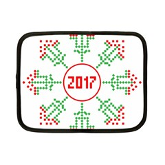 Snowflake Graphics Date Year Netbook Case (small)  by Celenk