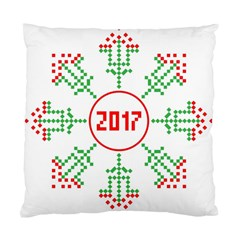 Snowflake Graphics Date Year Standard Cushion Case (two Sides) by Celenk