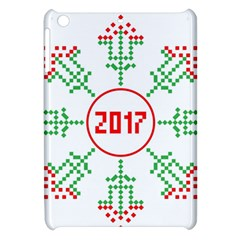Snowflake Graphics Date Year Apple Ipad Mini Hardshell Case by Celenk