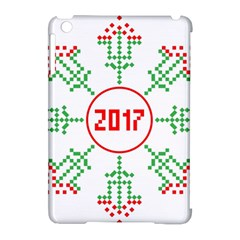 Snowflake Graphics Date Year Apple Ipad Mini Hardshell Case (compatible With Smart Cover) by Celenk