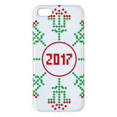 Snowflake Graphics Date Year Apple Iphone 5 Premium Hardshell Case by Celenk