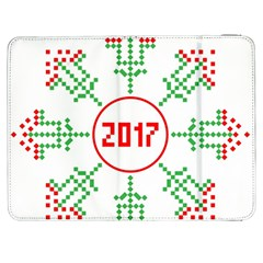 Snowflake Graphics Date Year Samsung Galaxy Tab 7  P1000 Flip Case by Celenk