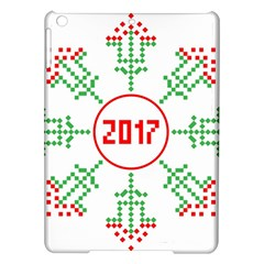 Snowflake Graphics Date Year Ipad Air Hardshell Cases by Celenk