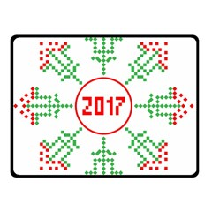 Snowflake Graphics Date Year Double Sided Fleece Blanket (small)  by Celenk