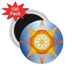 Star Pattern Background 2 25  Magnets (100 Pack)  by Celenk