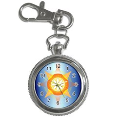 Star Pattern Background Key Chain Watches by Celenk