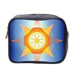Star Pattern Background Mini Toiletries Bag 2 Side by Celenk