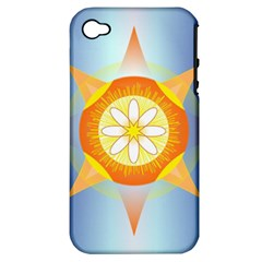 Star Pattern Background Apple Iphone 4/4s Hardshell Case (pc+silicone) by Celenk
