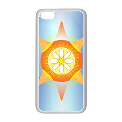 Star Pattern Background Apple Iphone 5c Seamless Case (white) by Celenk