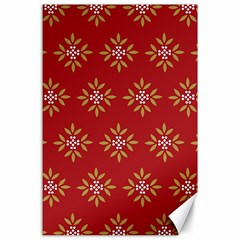 Pattern Background Holiday Canvas 24  X 36  by Celenk