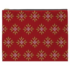 Pattern Background Holiday Cosmetic Bag (xxxl)  by Celenk