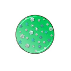 Snowflakes Winter Christmas Overlay Hat Clip Ball Marker by Celenk