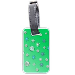 Snowflakes Winter Christmas Overlay Luggage Tags (one Side)  by Celenk