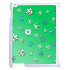Snowflakes Winter Christmas Overlay Apple Ipad 2 Case (white) by Celenk