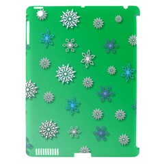 Snowflakes Winter Christmas Overlay Apple Ipad 3/4 Hardshell Case (compatible With Smart Cover) by Celenk