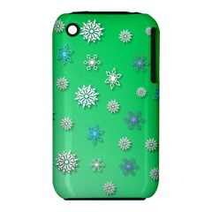Snowflakes Winter Christmas Overlay Iphone 3s/3gs by Celenk