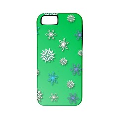 Snowflakes Winter Christmas Overlay Apple Iphone 5 Classic Hardshell Case (pc+silicone) by Celenk