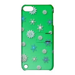 Snowflakes Winter Christmas Overlay Apple Ipod Touch 5 Hardshell Case With Stand by Celenk