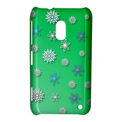 Snowflakes Winter Christmas Overlay Nokia Lumia 620 by Celenk