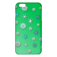 Snowflakes Winter Christmas Overlay Iphone 6 Plus/6s Plus Tpu Case by Celenk