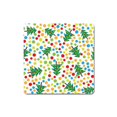 Pattern Circle Multi Color Square Magnet by Celenk