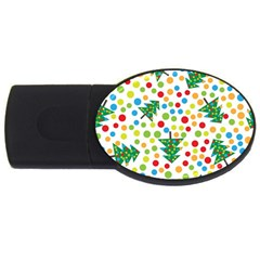 Pattern Circle Multi Color Usb Flash Drive Oval (4 Gb) by Celenk