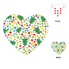 Pattern Circle Multi Color Playing Cards (heart)  by Celenk