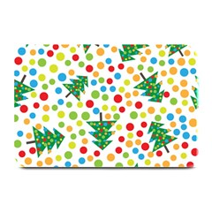 Pattern Circle Multi Color Plate Mats by Celenk