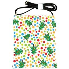 Pattern Circle Multi Color Shoulder Sling Bags by Celenk
