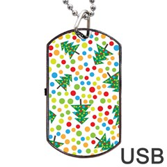 Pattern Circle Multi Color Dog Tag Usb Flash (one Side) by Celenk