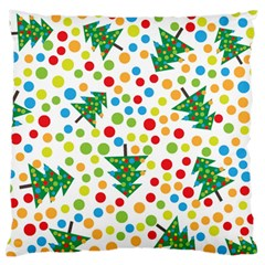 Pattern Circle Multi Color Large Cushion Case (two Sides) by Celenk