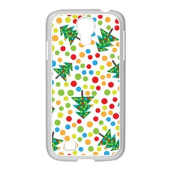 Pattern Circle Multi Color Samsung Galaxy S4 I9500/ I9505 Case (white) by Celenk