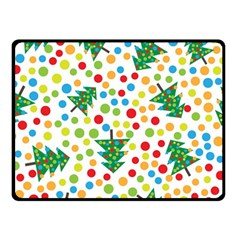 Pattern Circle Multi Color Double Sided Fleece Blanket (small)  by Celenk