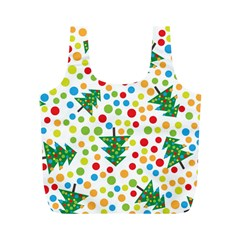 Pattern Circle Multi Color Full Print Recycle Bags (m)  by Celenk