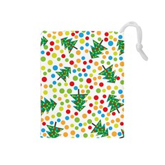 Pattern Circle Multi Color Drawstring Pouches (medium)  by Celenk