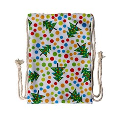 Pattern Circle Multi Color Drawstring Bag (small) by Celenk