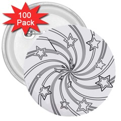 Star Christmas Pattern Texture 3  Buttons (100 Pack)  by Celenk