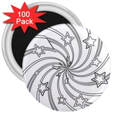 Star Christmas Pattern Texture 3  Magnets (100 Pack) by Celenk