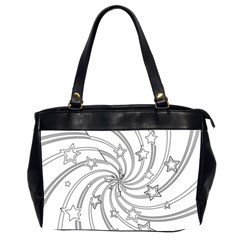 Star Christmas Pattern Texture Office Handbags (2 Sides)  by Celenk