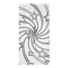 Star Christmas Pattern Texture Shower Curtain 36  X 72  (stall)  by Celenk