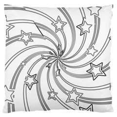 Star Christmas Pattern Texture Large Cushion Case (two Sides) by Celenk
