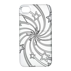 Star Christmas Pattern Texture Apple Iphone 4/4s Hardshell Case With Stand by Celenk