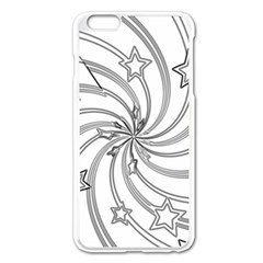 Star Christmas Pattern Texture Apple Iphone 6 Plus/6s Plus Enamel White Case by Celenk