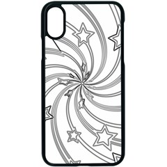 Star Christmas Pattern Texture Apple Iphone X Seamless Case (black)