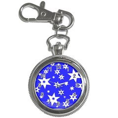 Star Background Pattern Advent Key Chain Watches by Celenk