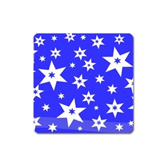 Star Background Pattern Advent Square Magnet by Celenk