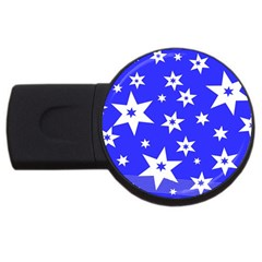 Star Background Pattern Advent Usb Flash Drive Round (2 Gb) by Celenk