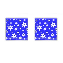 Star Background Pattern Advent Cufflinks (square) by Celenk