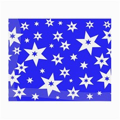 Star Background Pattern Advent Small Glasses Cloth (2 Side) by Celenk